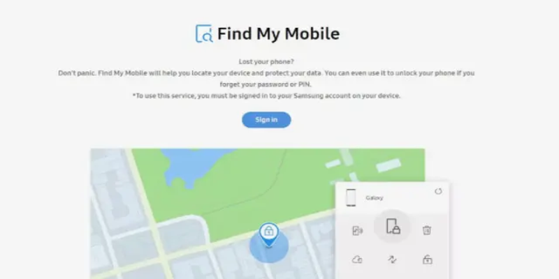 Samsung's Find My Mobile, can find a stolen smartphone